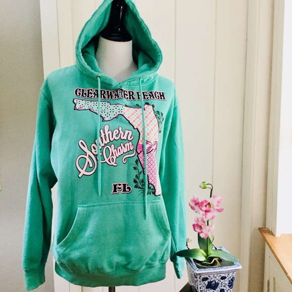 WINGS Turquoise Southern Charm FL Beach Hoodie